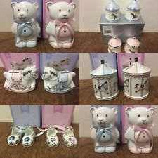 Boy & Girl Christening Gifts Presents - Moneybox, First Curl & Tooth Sets, Shoes