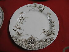 AESTHETIC MOVEMENT BROWN TRANSFERWARE PLATE A.F. & CO. FAIRY PATTERN