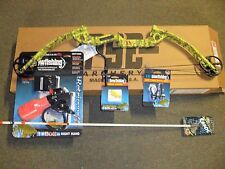 PSE Discovery Bowfishing 30-40# RH Yellow with Fingertings,Rest,Arrow,Retreiver