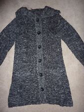 Evans size 14 black and grey long cardigan
