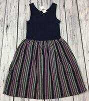 Gap Kids Girls X-Small (4-5) Dress. Navy Blue & Stripes Sundress. Nwt