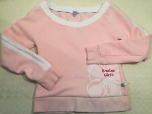 The Realm Womens Haze Sweatshirt Pink / White Size UK 10  , 32 Inch Bust
