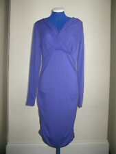 A MAMA LICIOUS MATERNITY DRESS PURPLE UK S SMALL ANY OCCASION LONG SLEEVES RRP28