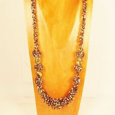 """28"""" Long Handmade Gold Multi Color Seed Bead Necklace FREE SHIPPING!!"""