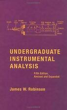 Undergraduate Instrumental Analysis by Robinson, James W.