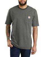 Carhartt Work Wear Pocket T-Shirt Peat Stripe K87 359