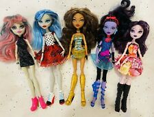 Mattel Monster High Dolls - Lot of 5 - Clothed - Preowned