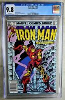 Iron Man #165 NEWSSTAND Marvel 1982 CGC 9.8 NM/MT White Pages Comic Q0025