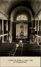 Lütau Lauenburg 1932 Kirche Innenraum Altar Pfingstschmuck Pfingsten Gotteshaus