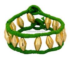 22K Gelbgold Fußkettchen Dholaki Design Tribal Bauchtanz Indisch Folk Schmuck 08