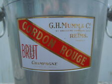 Seau champagne cordon rouge G H Mumm & C° produce of France