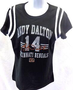 Cincinnati Bengals Football Ladies Dalton 14 Short Sleeve T-Shirt Black