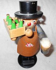 Steinbach German Lowenbrau Beer Nutcracker Man Smoking Pipe with Bottles & Mug