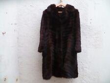 Grand manteau de vison véritable brun foncé Désigner vintage 80