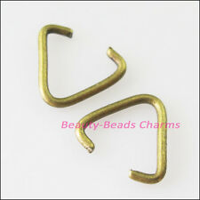 100Pcs Triangle Jump Rings Connectors Bails Gold Silver Bronze Plated 10.5x11mm