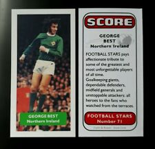 GEORGE BEST - Manchester United & Northern Ireland Score UK football trade card