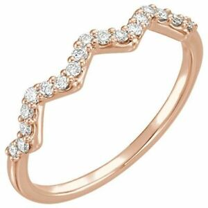 Diamond Stackable Ring In 14K Rose Gold (1/5 ct. tw.)