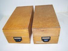 alter Karteischrank  Holzschubladen stapelbar Apothekerschrank Holz Schublade