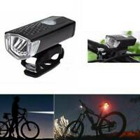 3Modes Bycicle Highlight Bike Headlamp Signal Tail Light USB Rechargeable