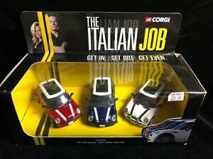 CORGI Boxed THE ITALIAN JOB Mini Diecast Model Gift Set 2003 Movie BMW Wahlburg