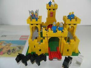 Vintage Lego 1978 Yellow Castle 375/6075 Instructions Minifigs bundle job lot