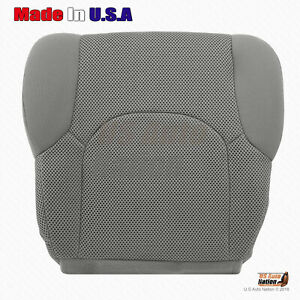 For 2005 - 2019 Nissan Frontier Driver Bottom Replacement Cloth Seat Cover Gray