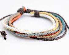 Men's Cool Cuff Hemp Surfer Tribal MultiWrap Wrist Bracelet  A1