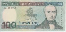 Lithuania Banknote P50-4457 100 Litu 1991, A/U