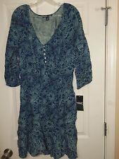 American Living Women's 3/4 Sleeve Scoop Neck Peasant Dress Size Medium NWT