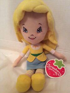 """Kellytoy Strawberry Shortcake Yellow Lemon Meringue 14"""" Soft Plush Toy New"""