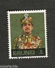 "Brunei #196 Sultan Hassanal Bolkiah ""1974 Printing"" Θ used stamp"