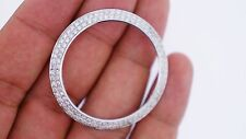 1.80 Ct 2 Row Diamond Bezel for Rolex 41MM Date Just II Watch Tapered Style