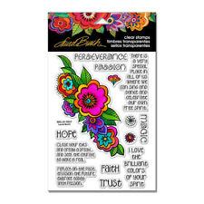 Stampendous Clear Stamps - Floral Reflections - Flowers, Flower, Perseverance