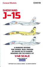Caracal Decals 1/48 SHENYANG J-15 Chinese Built Su-33 Jet Fighter