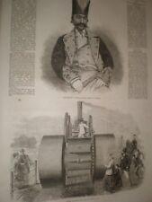 Nasir UD Deen Shah of Iran Persia & steam roller at Hyde Park 1866 prints ref C