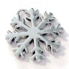 5 Pcs Silver Plated Snowflake Christmas charm Alloy Charm Pendants - A0420