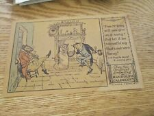 """Postcard of """"Pray, Mr Frog .... """" Drawing by Randolph Caldecott (Unposted)"""