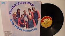 The Oak Ridge Boys - Sing Their Favorites - LP Vista record album