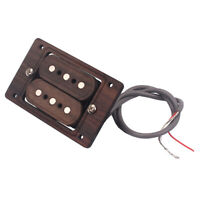 Hand Wound 3 String, Cigar Box Rosewood Humbucker Pickup, Guitar Pickups