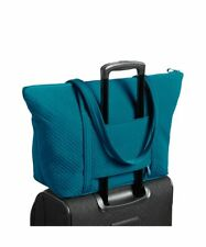 NWT Vera Bradley Miller Tote Travel Shopper Diaper Bag~Bahama Bay~Trolley Sleeve