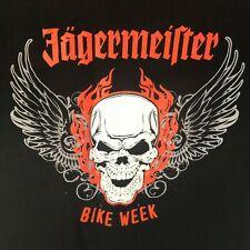 Jagermeister Bike Week T Shirt Mens Black XL 100% Cotton Graphic SS
