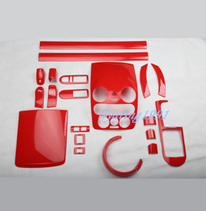 20PCS Red ABS Car Interior Kit Cover Trim For Volkswagen VW Beetle 2006-2012