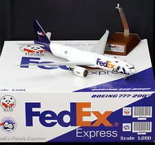 "Fedex B777-200F Reg: N850FD ""PANDA USA"" JC Wings 1:200 Diecast Models XX2580"