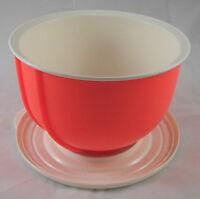 Tupperware D 15 Kleiner Rührstar 1,5 l Rührschüssel Orange-Rot / Weiß Neu OVP