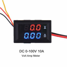 Mini DC 100V 10A Digital Voltmeter Ammeter LED Volt Amp Meter Gauge Panel Tester