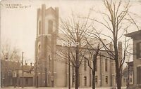 Indiana In Real Photo RPPC Postcard c1910 WARSAW M.E. Church Building