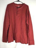 LL Bean XXL Regular Men's Cotton Pullover Red Sweater