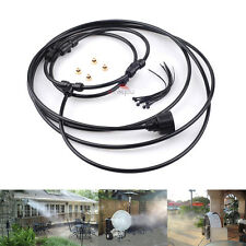 "12"" Outdoor Misting Cooling System Mister Clip-on Ring 4 Brass Nozzle for Fan"