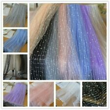 Mesh Lace Fabric Voile Tulle Wedding Prom Dress Tutu Skirt Polka Dot Striped Sew