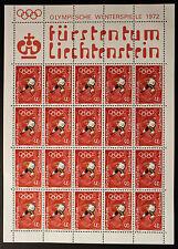 Francobollo LIECHTENSTEIN Stamp - Yvert e Tellier n°495 x20 (En Feuillet) n (Y5)